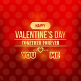 Valentines Day Shiny Vector Template. Card design web or any print Stock Photography