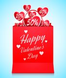 Valentines Day Shopping Concept Royalty Free Stock Photography