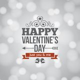 Valentines day silver lights vintage background Royalty Free Stock Photography
