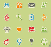 Valentines day simply icons Royalty Free Stock Photos