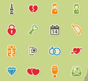 Valentines day simply icons Stock Photo