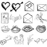 Valentines day sketch Royalty Free Stock Image