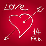 Valentines day sketch Royalty Free Stock Photos