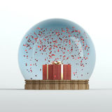 Valentines day snow globe Stock Images
