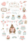 Valentines day soft icons Stock Photo