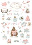 Valentines day soft icons Stock Photo