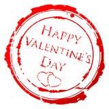 Valentine's Day stamp Stock Photo