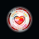 Valentines day stamp design Royalty Free Stock Photography
