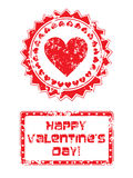 Valentines day stamp Royalty Free Stock Image