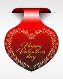 Valentines Day sticker Royalty Free Stock Photography
