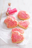 Valentines day sugar cookies with sprinkles Stock Photography