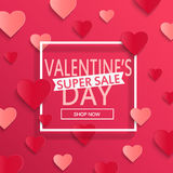 Valentines day super sale background. Royalty Free Stock Photos