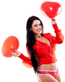 Valentines day surprise Royalty Free Stock Images