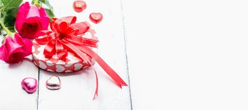 Valentines day and Sweetest day. Love concept. Copy space on white background royalty free stock photography