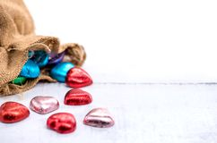 Valentines day and Sweetest day,. Love concept. on white background royalty free stock photos