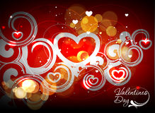 Valentines day swirl background Stock Image