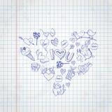 Valentines Day Symbol's. Stock Image