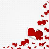 Valentines Day Symbols Hearts Background Royalty Free Stock Photography