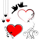Valentines day symbols - vector set Royalty Free Stock Photos