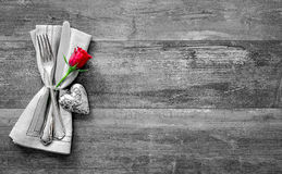 Valentines day table place setting Stock Image