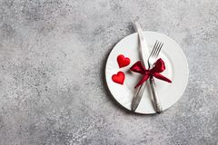 Valentines day table setting romantic dinner marry me wedding Stock Images