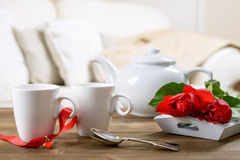Valentines Day Tea Royalty Free Stock Images