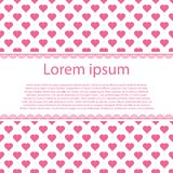 Valentines day with text stripe and many hearts. Vector illustration Stock Photos