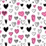 Valentines Day texture. Heart background - seamless heart shape texture. Love vector stock illustration