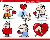 Valentines day themes cartoon illustration Stock Photo