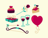 Valentines Day things Royalty Free Stock Photos