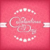Valentines day title design Royalty Free Stock Photography