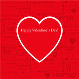 Valentines Day torn paper vector illustration of s Stock Photo