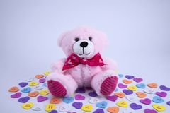 Valentines day toy bear royalty free stock images