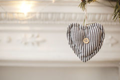 Valentines day toy heart on the tree with a copy space Stock Photo