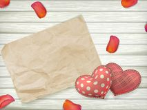 Valentines day toy hearts. EPS 10 Stock Photography