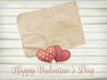 Valentines day toy hearts. EPS 10 Royalty Free Stock Images