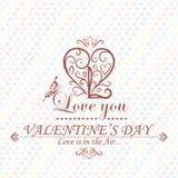 Valentines Day type text calligraphic headline Royalty Free Stock Images