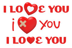 Valentines Day Type Text. Vector Royalty Free Stock Photos