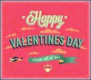 Valentines day typographic design. Stock Photo