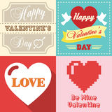 Valentines day typographic Royalty Free Stock Photos