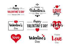 Valentines Day Typographic Text Design Royalty Free Stock Image