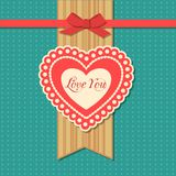Valentines day  typographical retro holiday card Stock Images