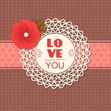 Valentines day  typographical retro holiday card. This vector illustration can be used as greeting card or wedding invitation for your design royalty free illustration