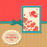 Valentines day  typographical retro holiday card Royalty Free Stock Photo