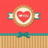 Valentines day  typographical retro holiday card Royalty Free Stock Images