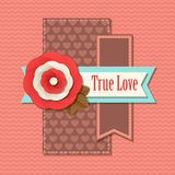 Valentines day typographical retro holiday card. This vector illustration can be used as greeting card or wedding invitation for your design vector illustration