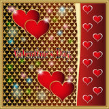 Valentines Day. Valentina Deco Stars the Classic the Lightning the Darling the Romance Red Love Heart stock illustration