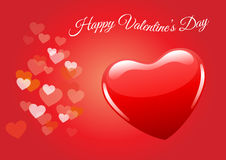 Valentines day, valentine background, red heart vector Stock Photos