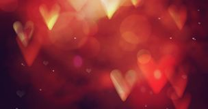Valentines day background. Valentines day. Valentines background with table and bokeh. Love red background. Valentines day empty display Stock Images