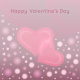 Valentines day vector background with abstract hea Royalty Free Stock Images